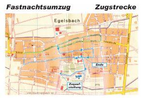 KGE Karnevalsumzug Egelsbach Verlauf 2012